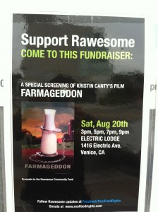 Rawesome Update - Support Rawesome - FARMAGEDDON Screening